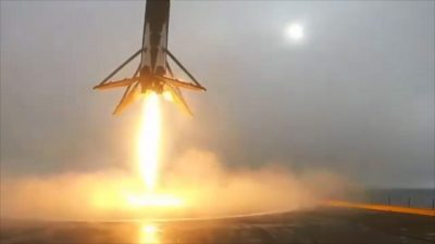 A Perfect Space X Landing